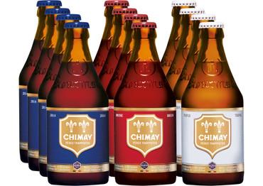 Chimay Trappist 12er Paket (je 4x Chimay Rouge + Chimay Bleue + Chimay Tripel)