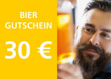 30,- € Geschenkgutschein als Bier-Geschenk-Gutschein