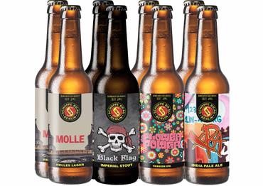 Craft Beer Paket Schoppe Bräu Bier mit 8 Bierflaschen