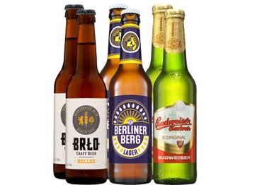 Bier Grill-Paket Maiskolben mit 6 Bierflaschen