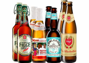 Alkoholfreies Bier Paket mit 8 Bierflaschen