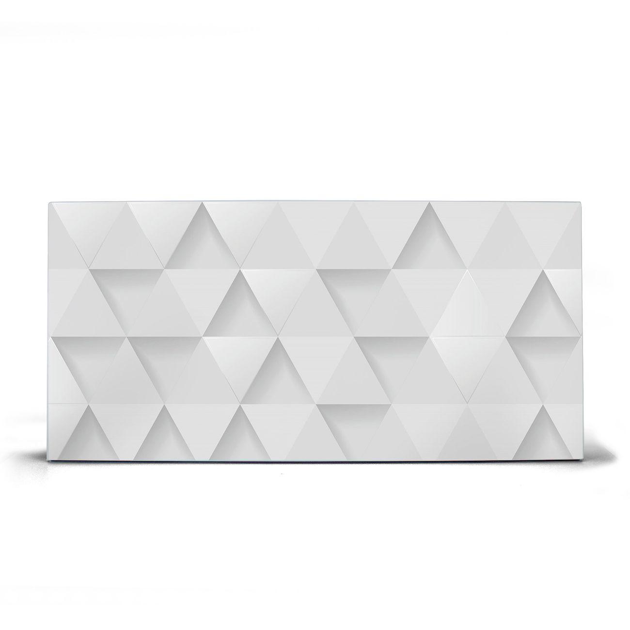 Magnettafel silber Querformat Weisse Dreiecke