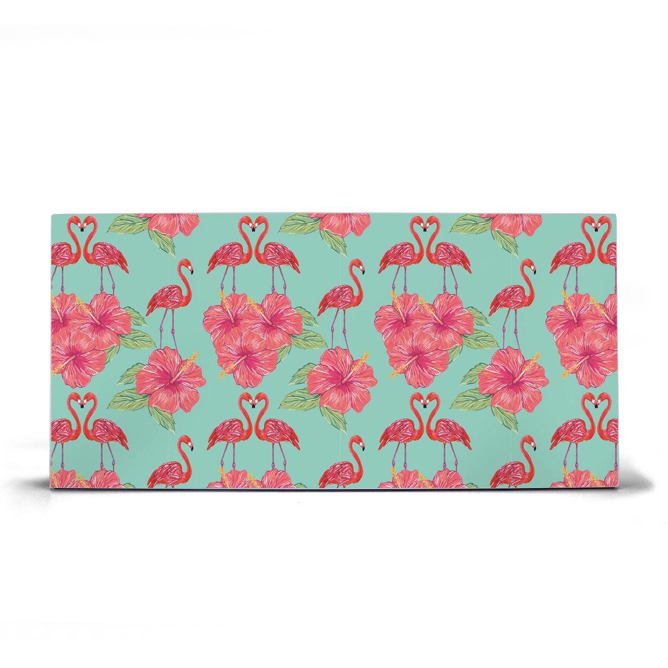 Magnettafel silber Querformat Flamingo Liebe