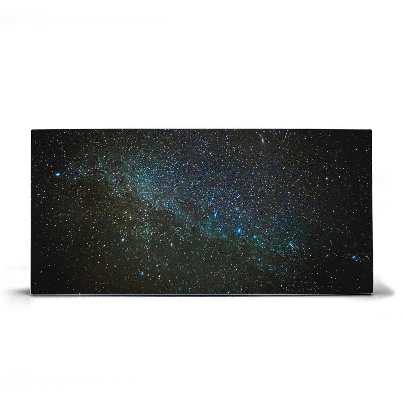 Magnettafel silber Querformat Nachthimmel