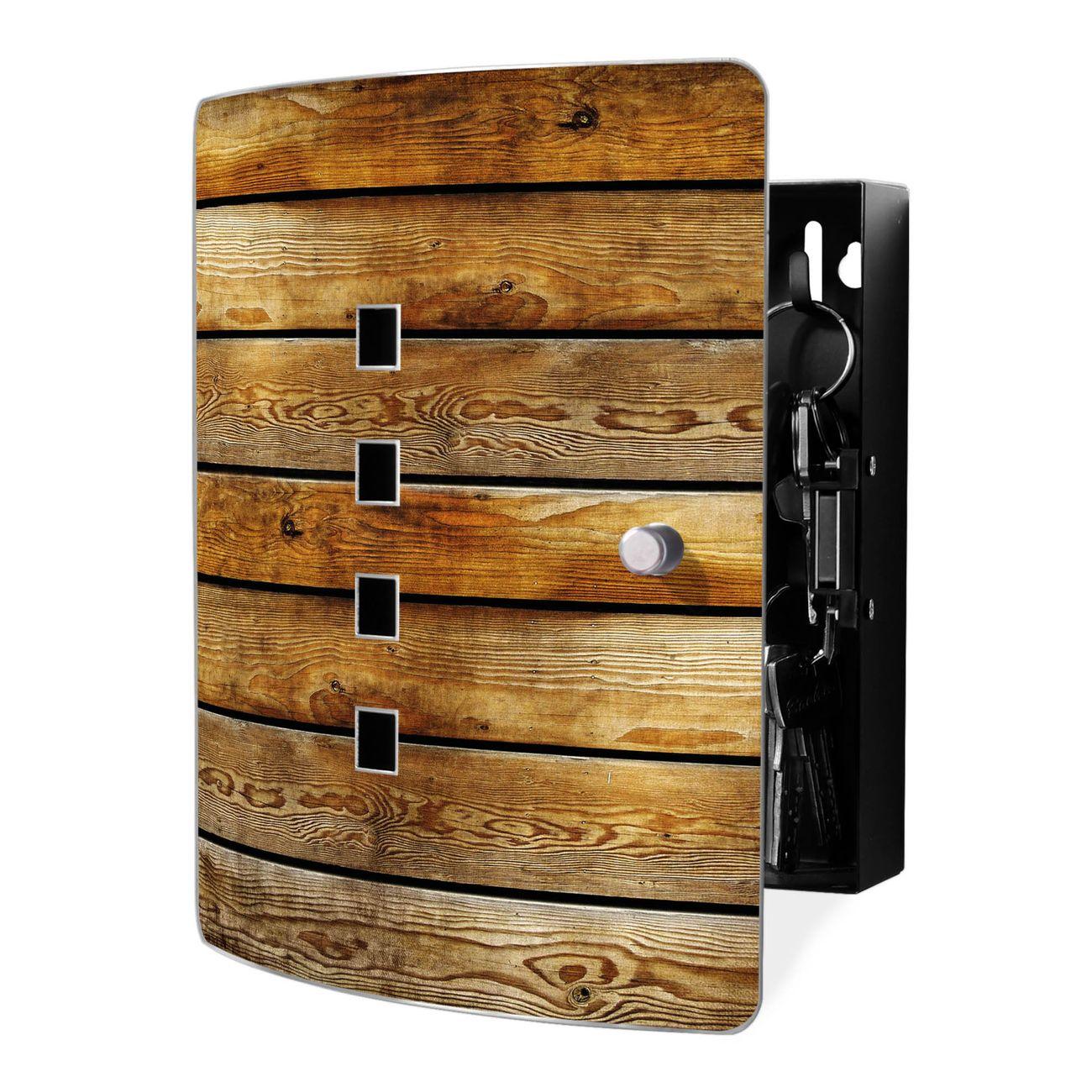 Schlüsselkasten Motiv Holzbretter