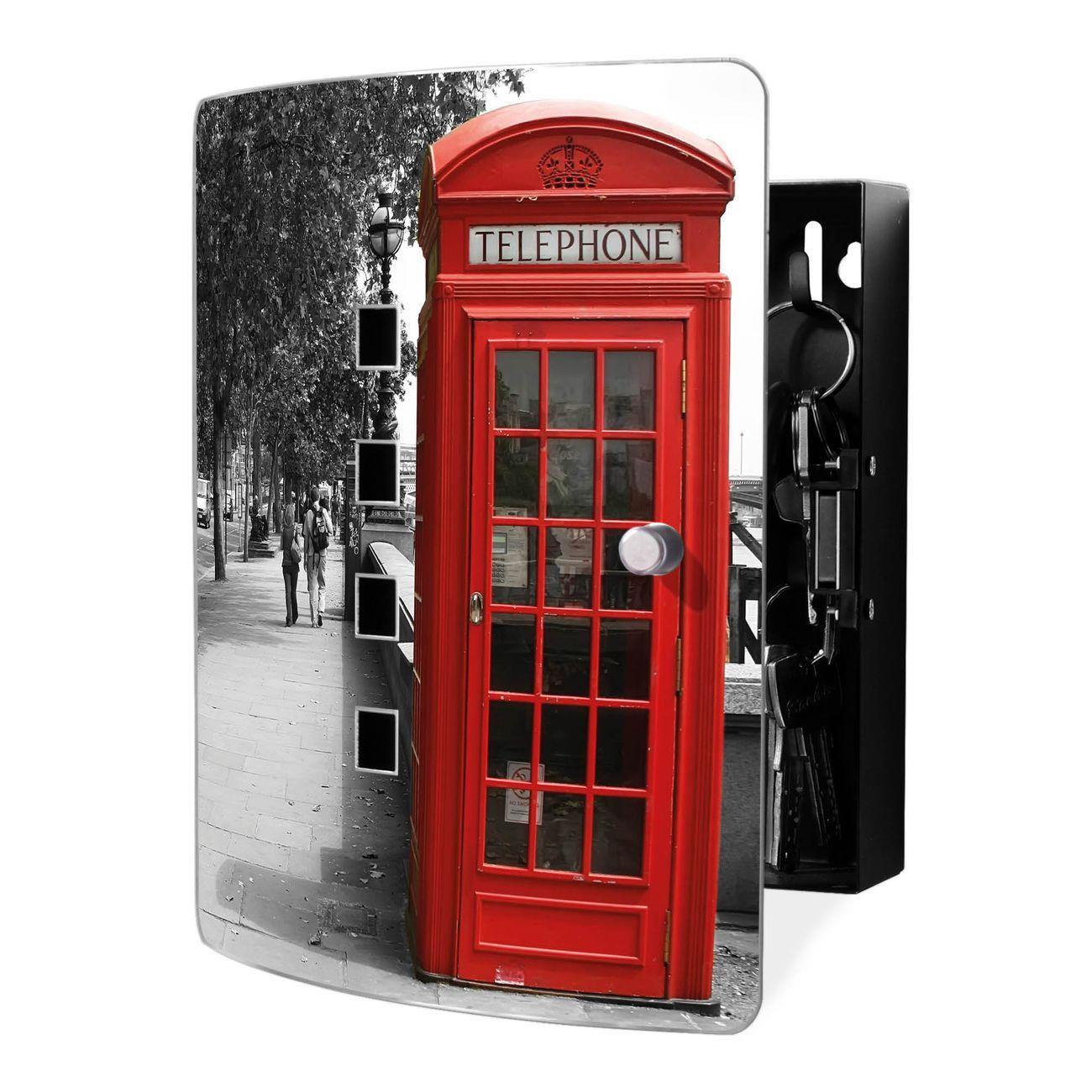 Schlüsselkasten Motiv London Red Telephone
