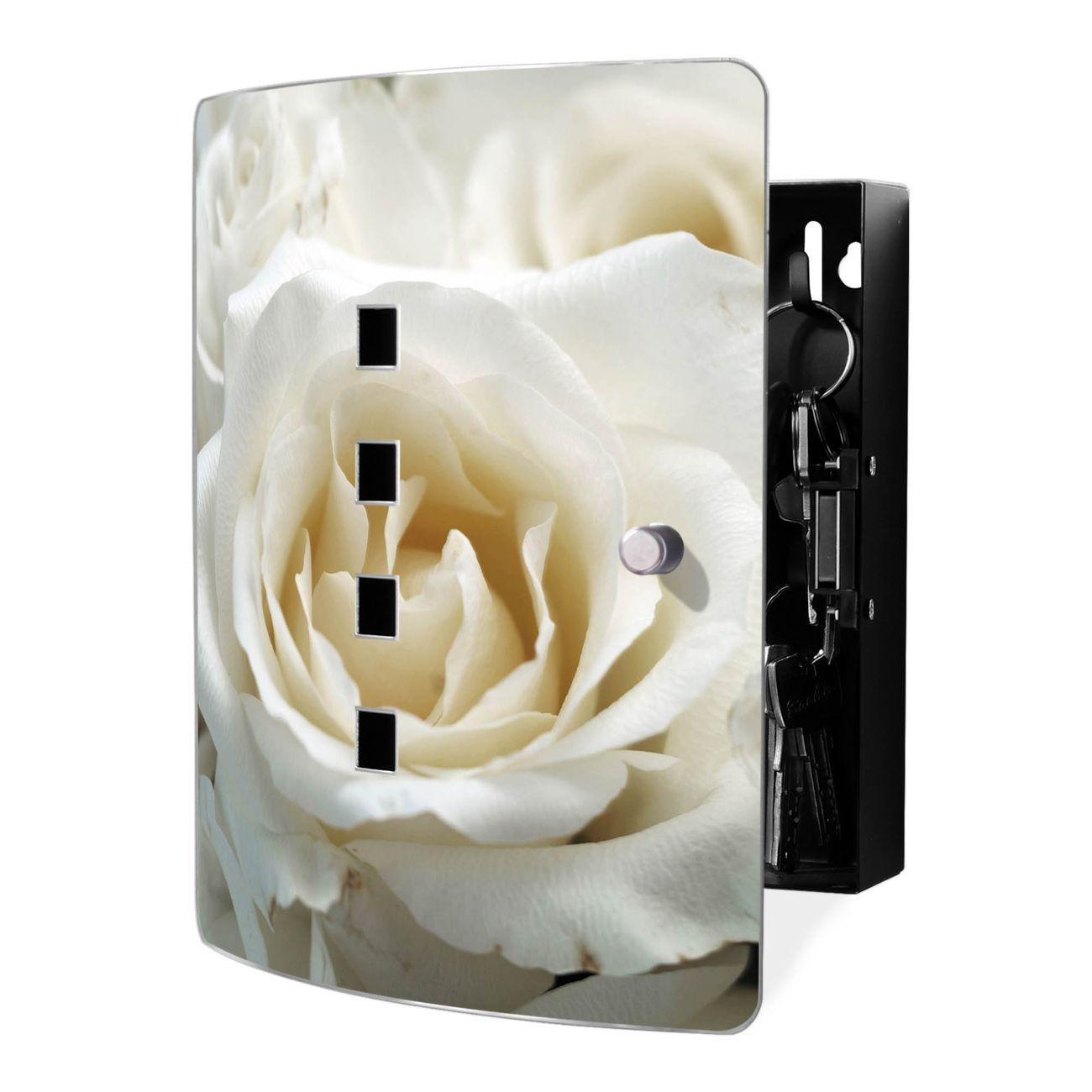 Schlüsselkasten Motiv White Roses