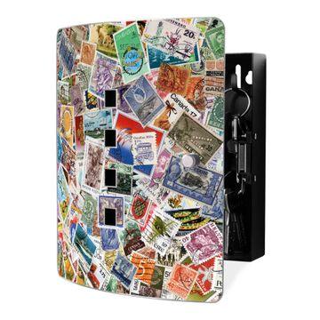 Schlüsselkasten Motiv Briefmarken