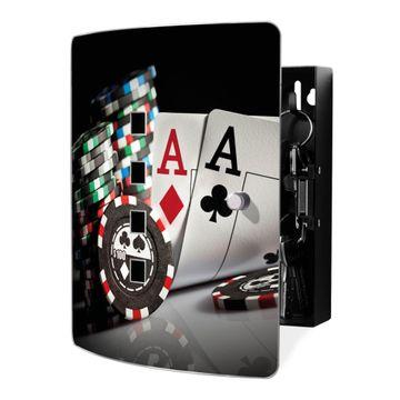 Schlüsselkasten Motiv Poker