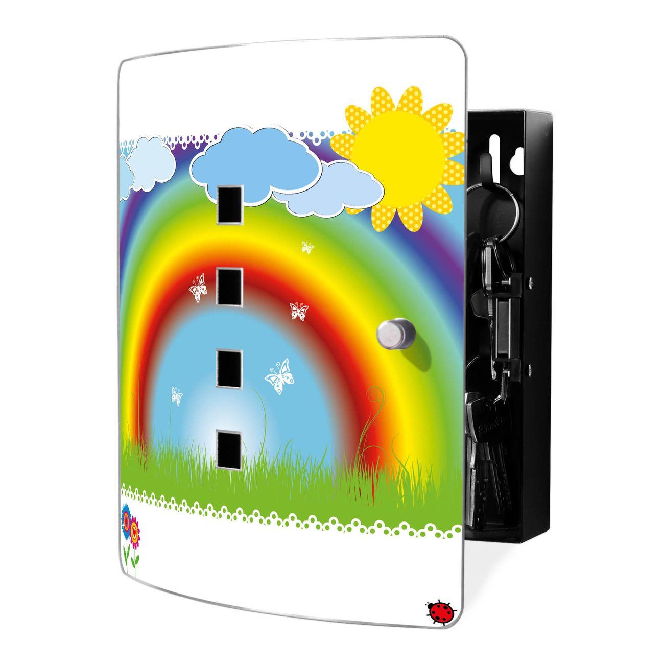 Schlüsselkasten Motiv Regenbogen