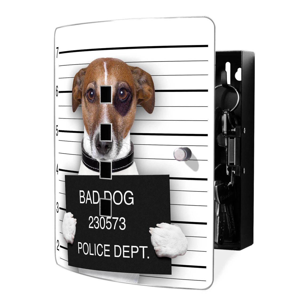 Schlüsselkasten Motiv Bad Dog Jack Russel