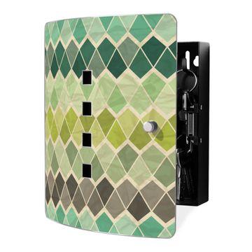 Schlüsselkasten Motiv Vier Farben Grün