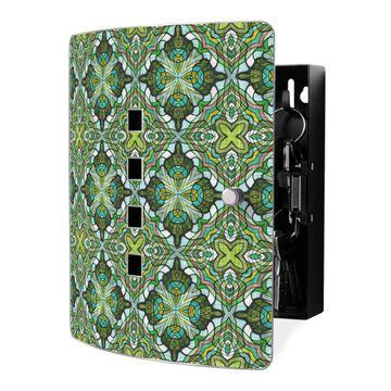 Schlüsselkasten Motiv Grünes Muster