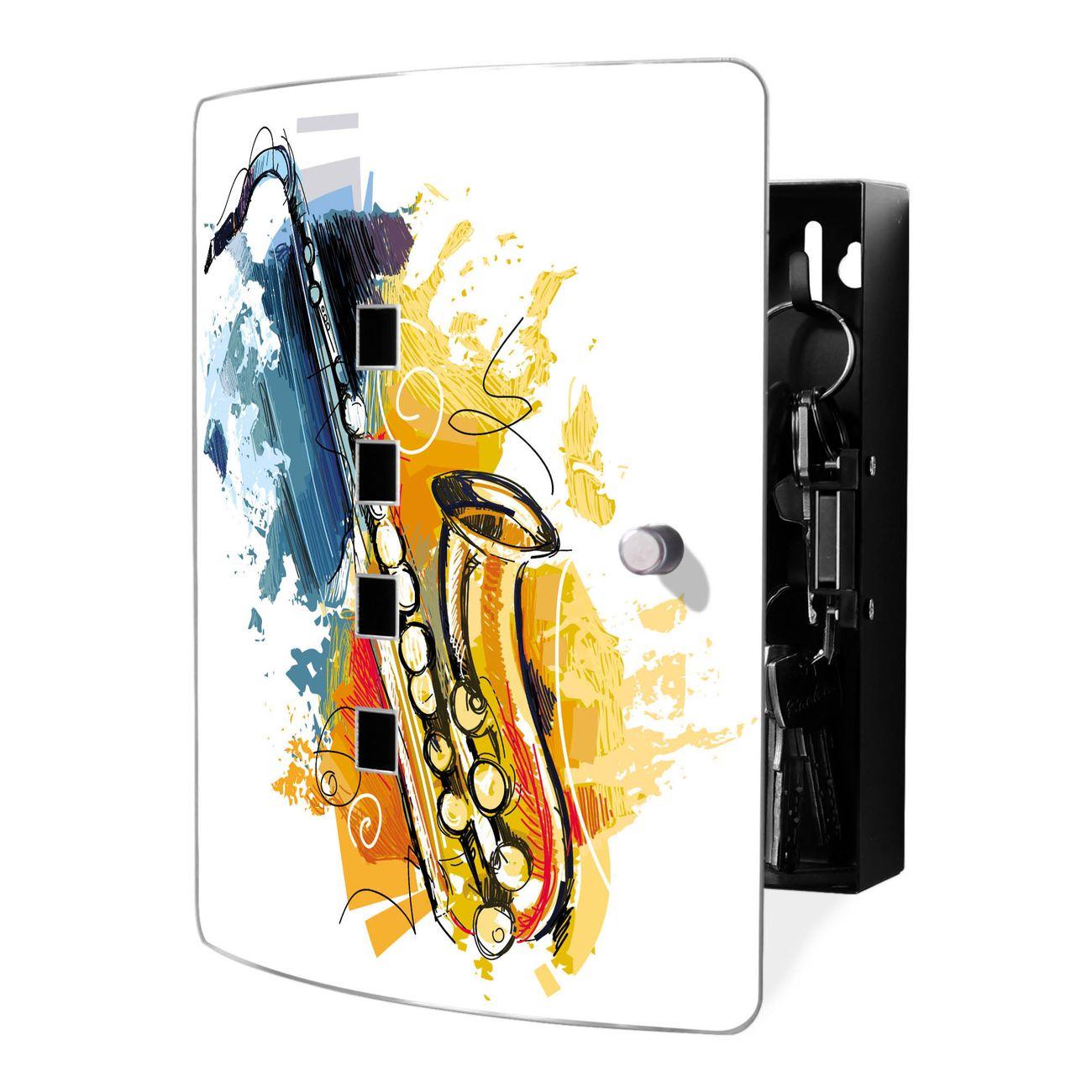 Schlüsselkasten Motiv Saxophon