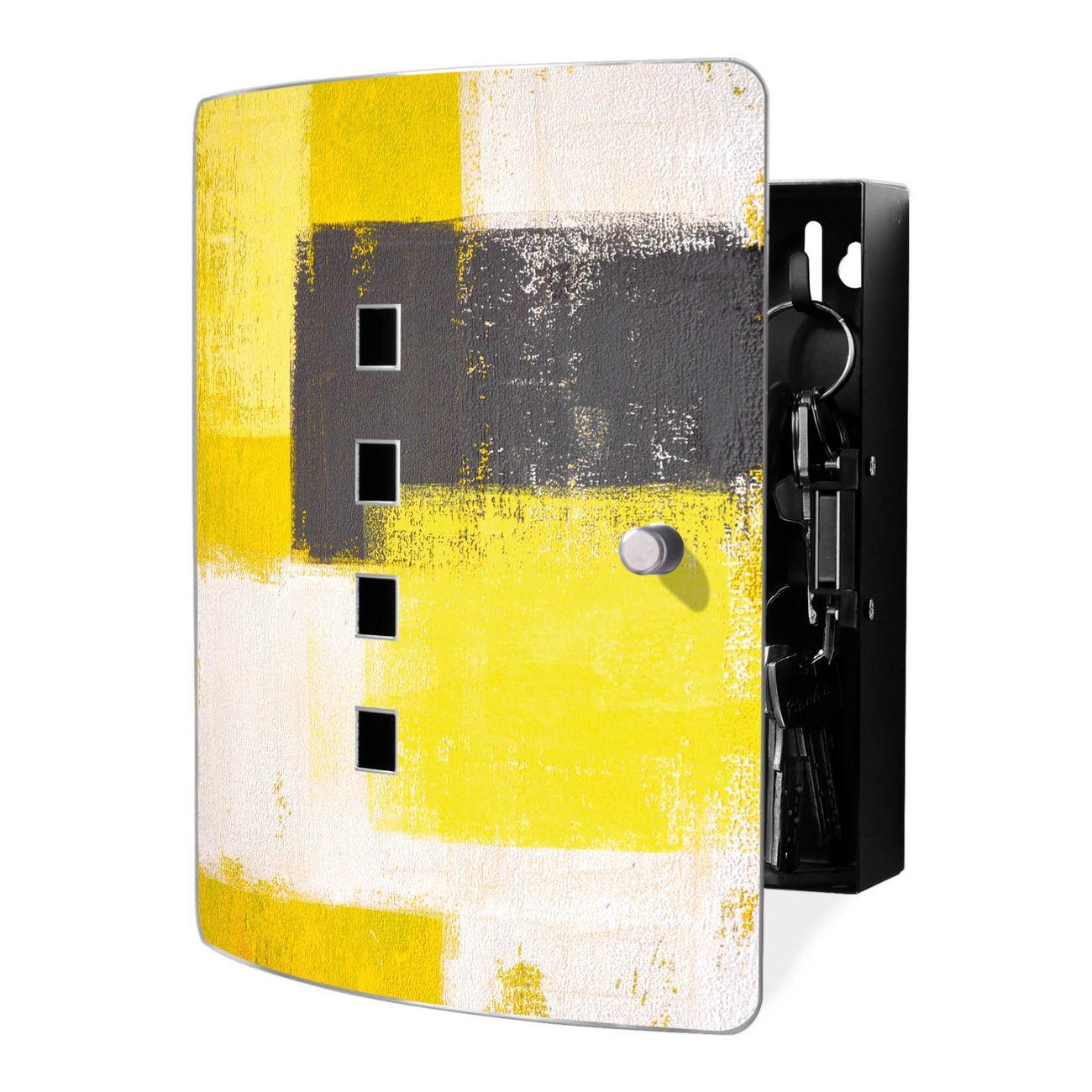 Schlüsselkasten Motiv Abstrakt Gelb
