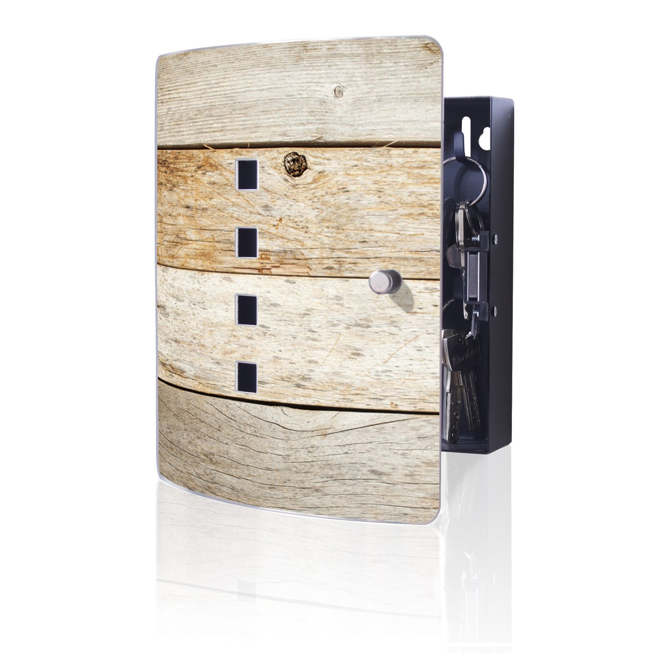 Schlüsselkasten Motiv Graues Holz