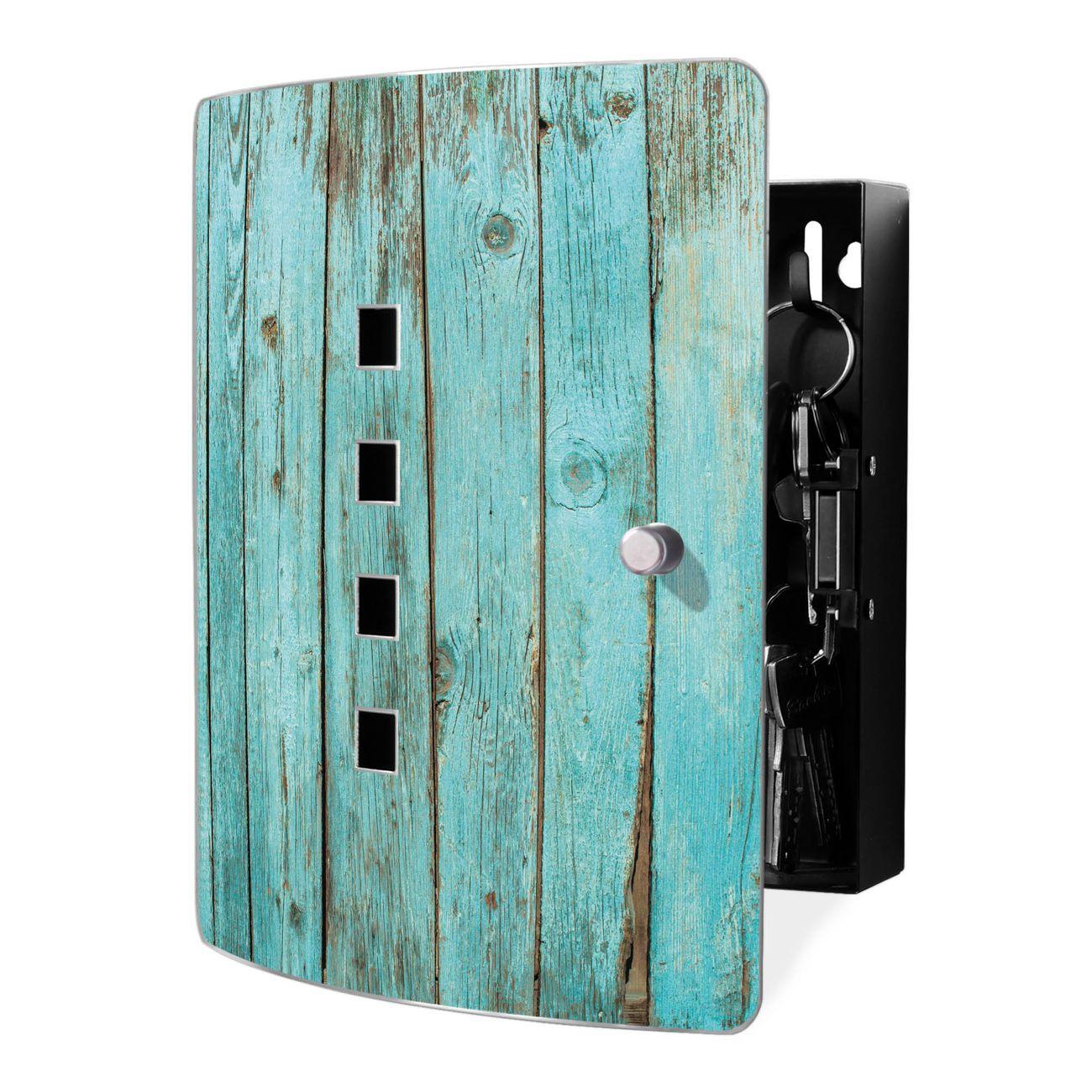 Schlüsselkasten Motiv Blaues Holz