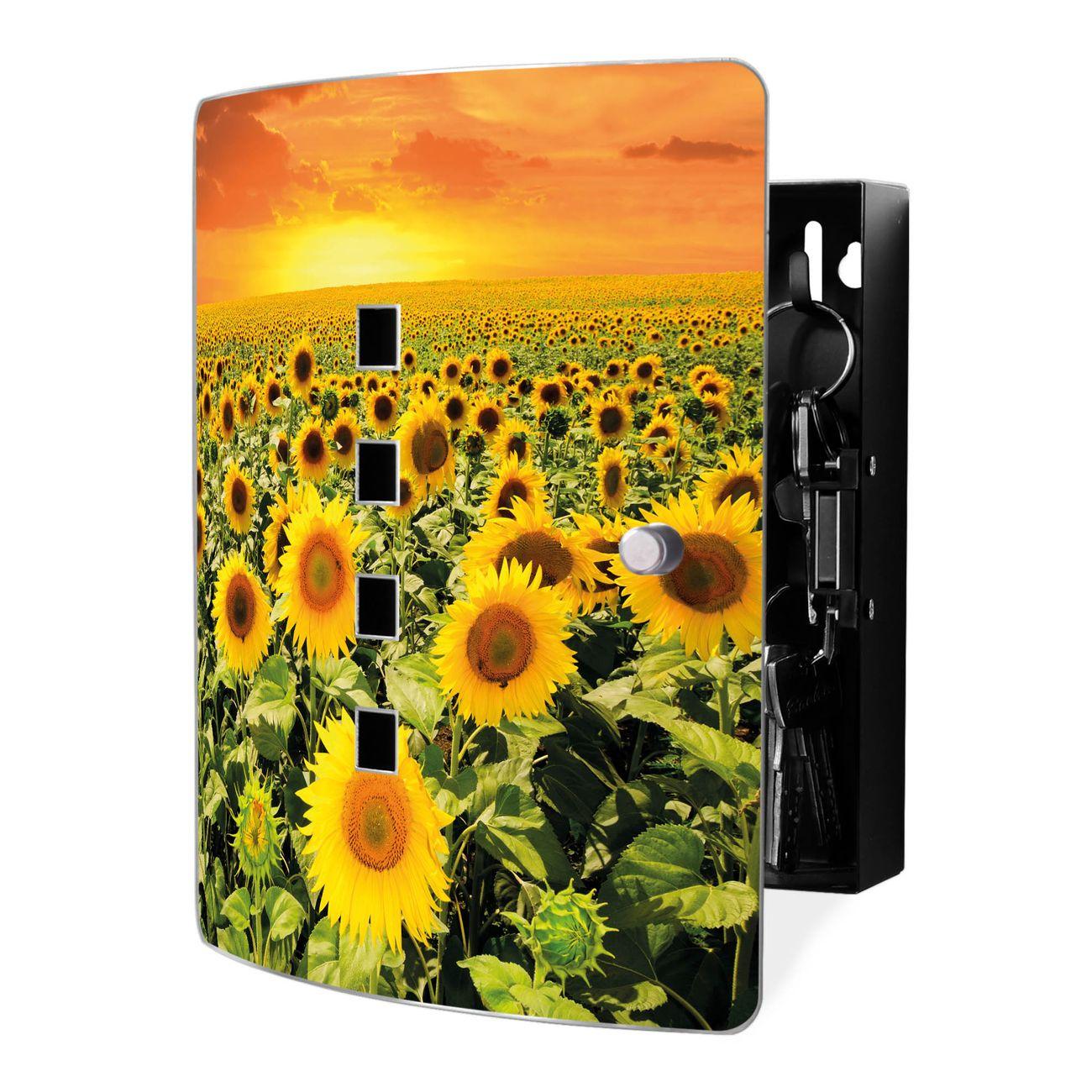 Schlüsselkasten Motiv Sonnenblumenmeer