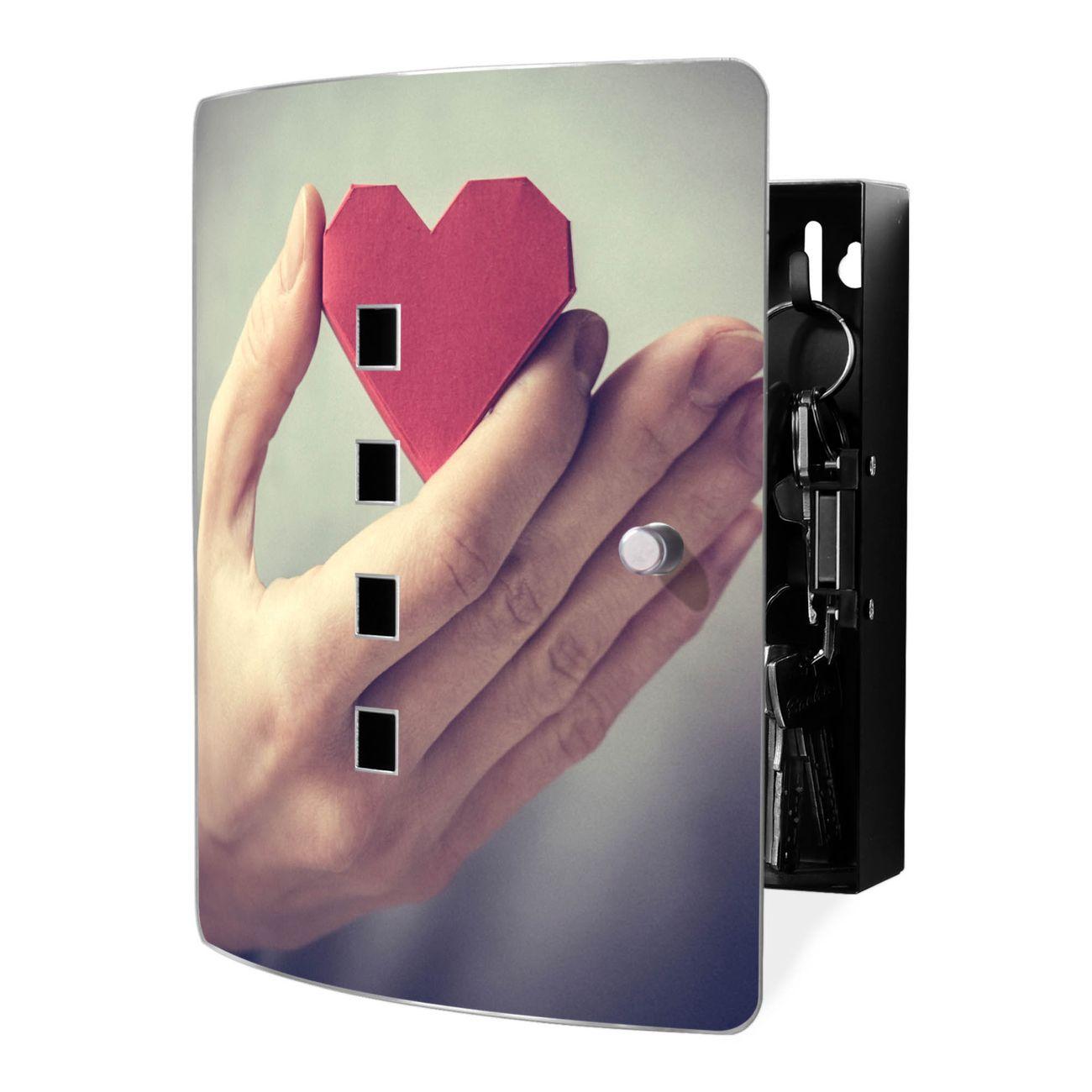 Schlüsselkasten Motiv Hand Aufs Herz