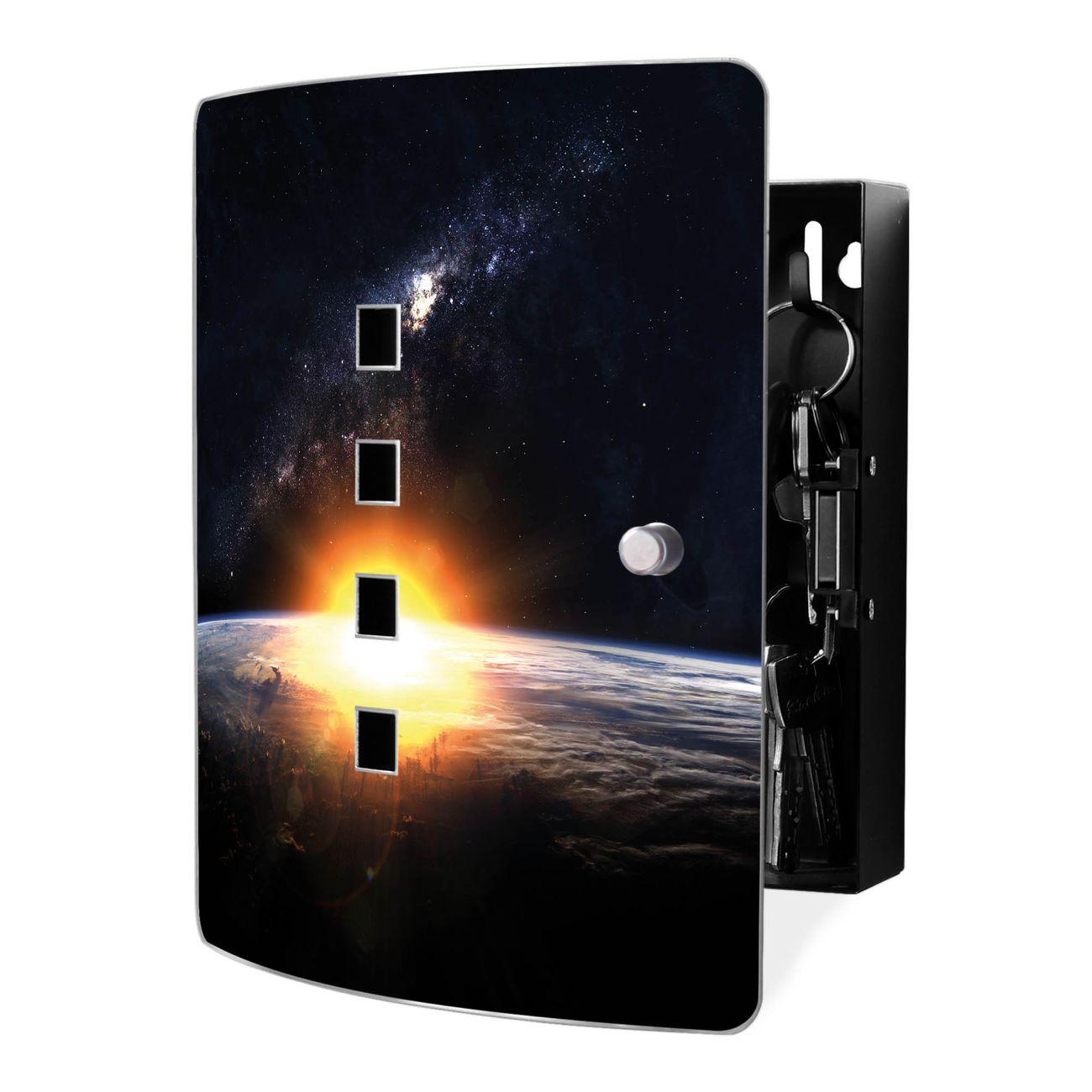 Schlüsselkasten Motiv Sonne im Weltall