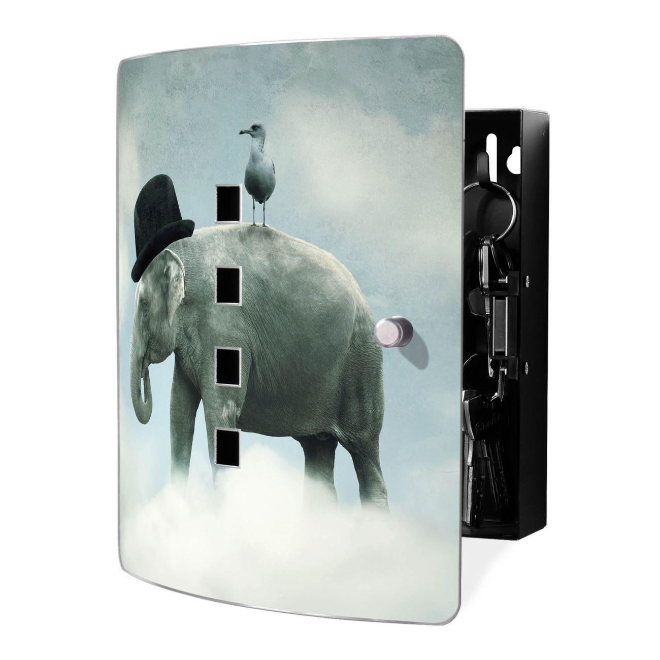 Schlüsselkasten Motiv Elefant und Möwe