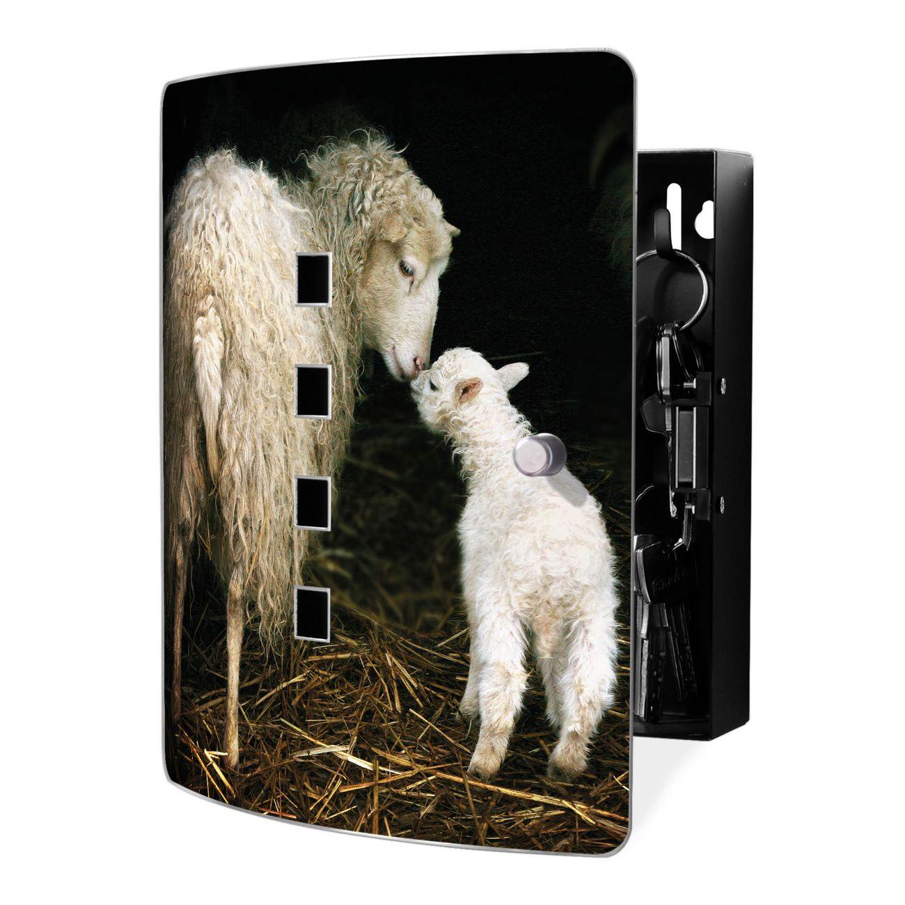 Schlüsselkasten Motiv Schaf Und Lamm