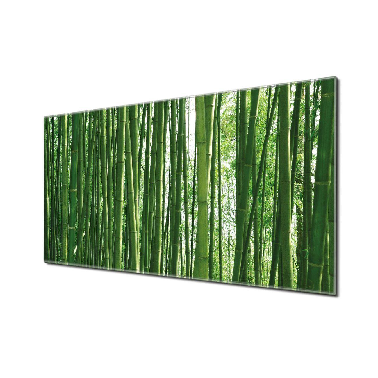 Küchenrückwand Glas Motiv Bambus