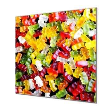 Küchenrückwand Glas Motiv Gummibaerchen