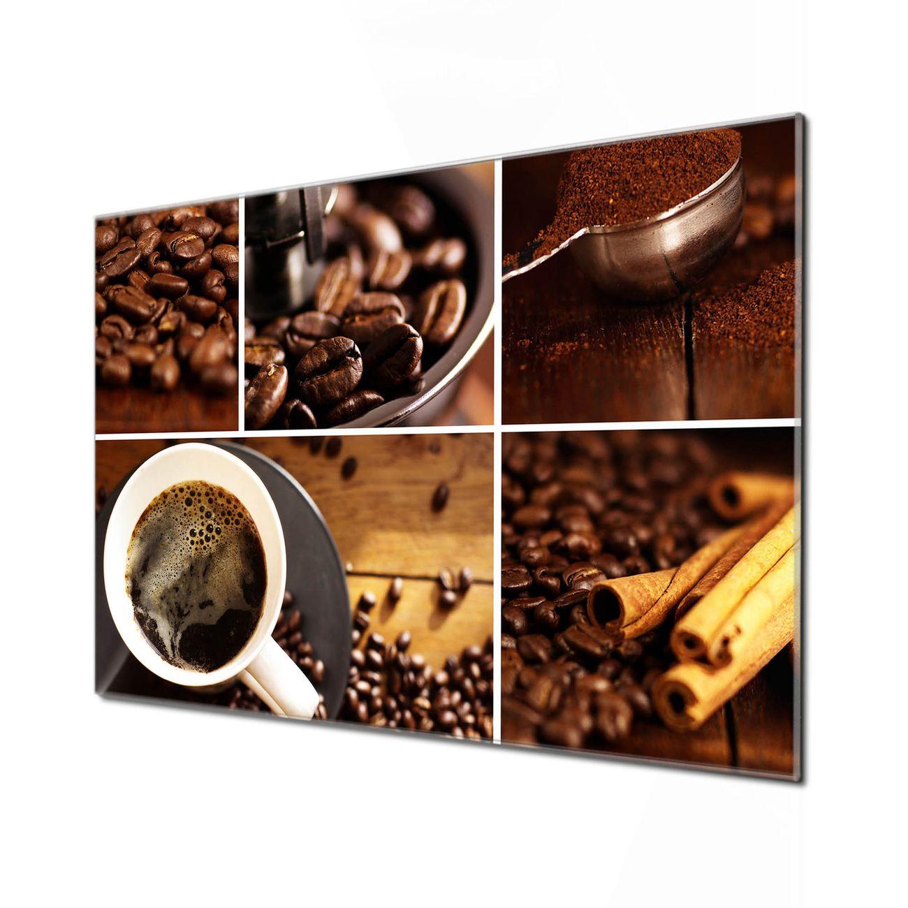 Küchenrückwand Glas Motiv Kaffee&Schokolade