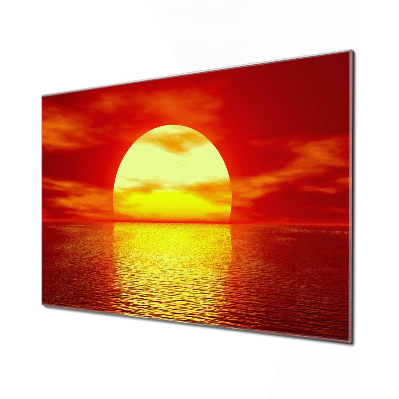 Küchenrückwand Glas Motiv Sonnenuntergang