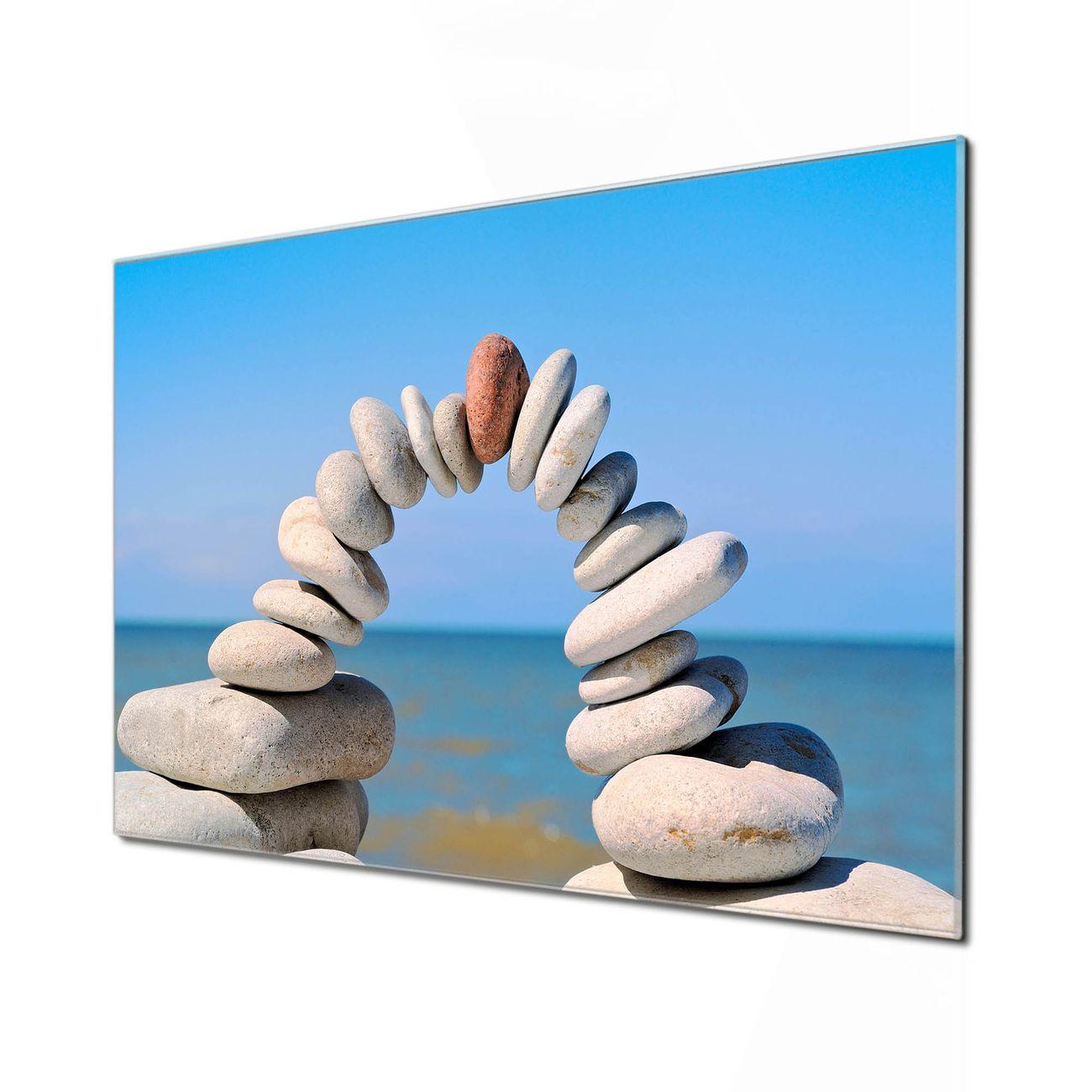 Küchenrückwand Glas Motiv Steine&Meer