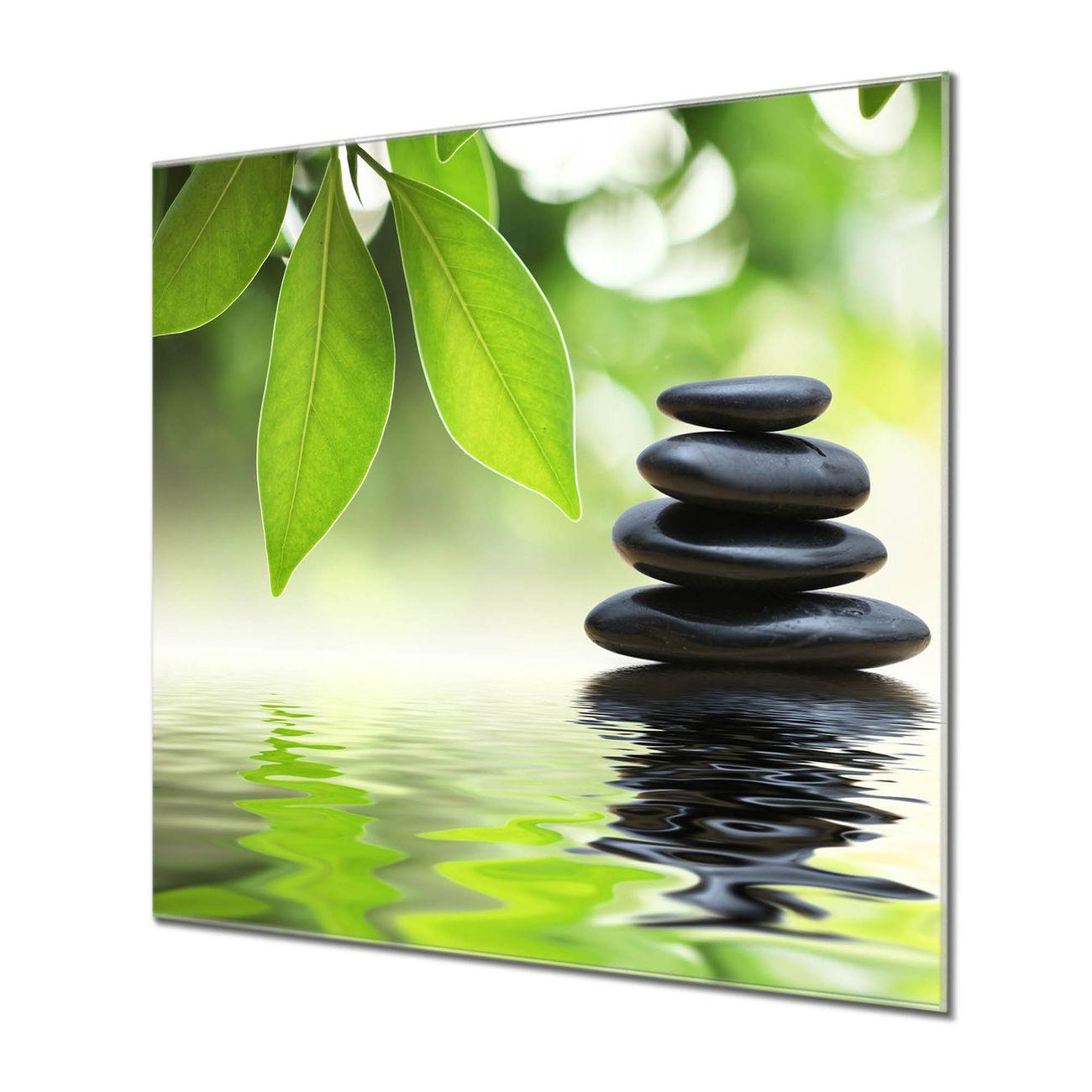 Küchenrückwand Glas Motiv Steine&Relax