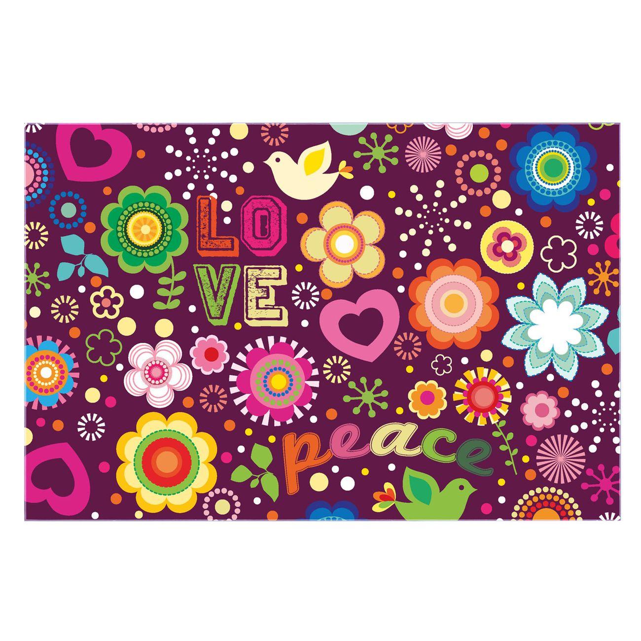 Küchenrückwand Glas Motiv Love and Peace