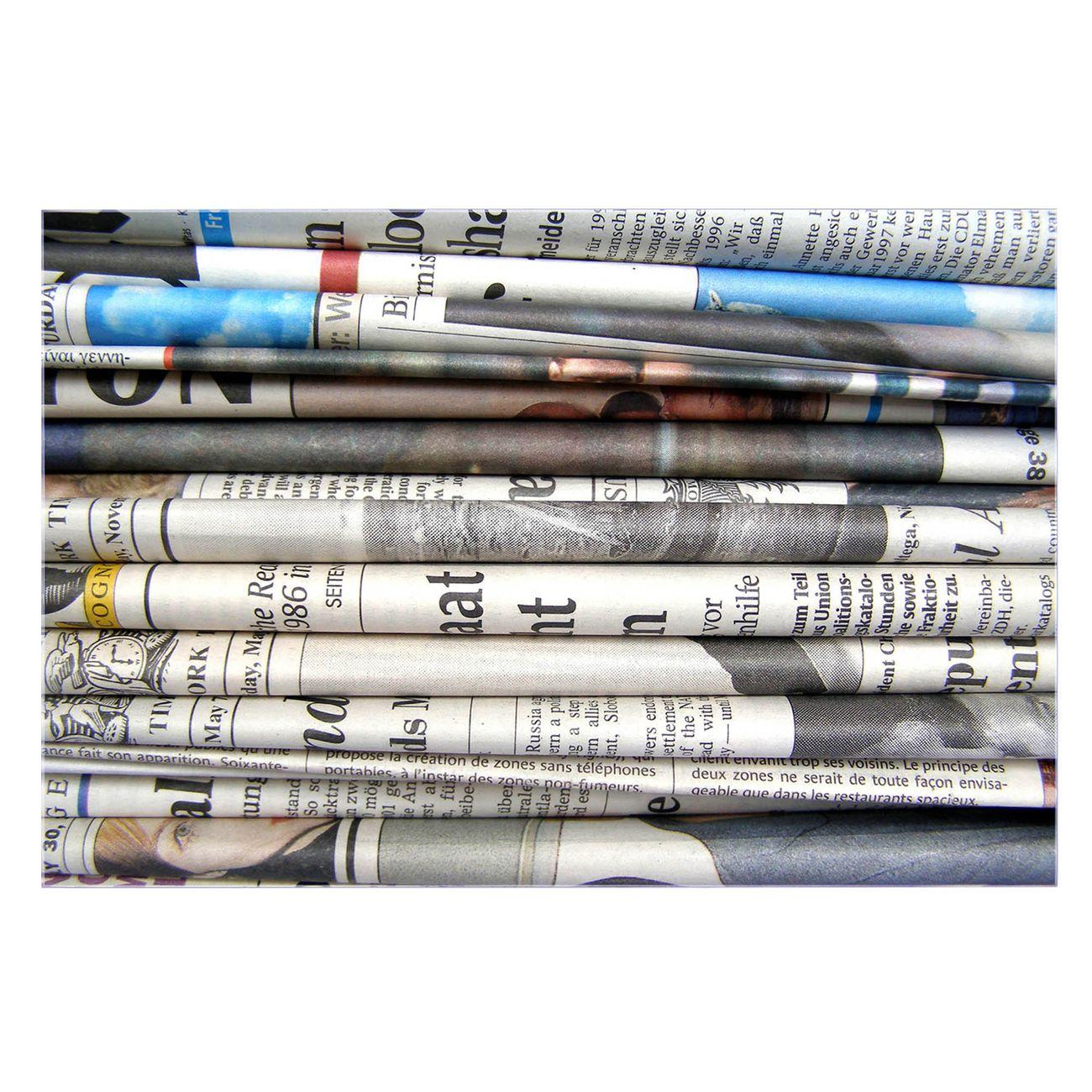 Küchenrückwand Glas Motiv Zeitungen