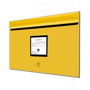 Küchenrückwand Glas Motiv Briefkasten Gelb