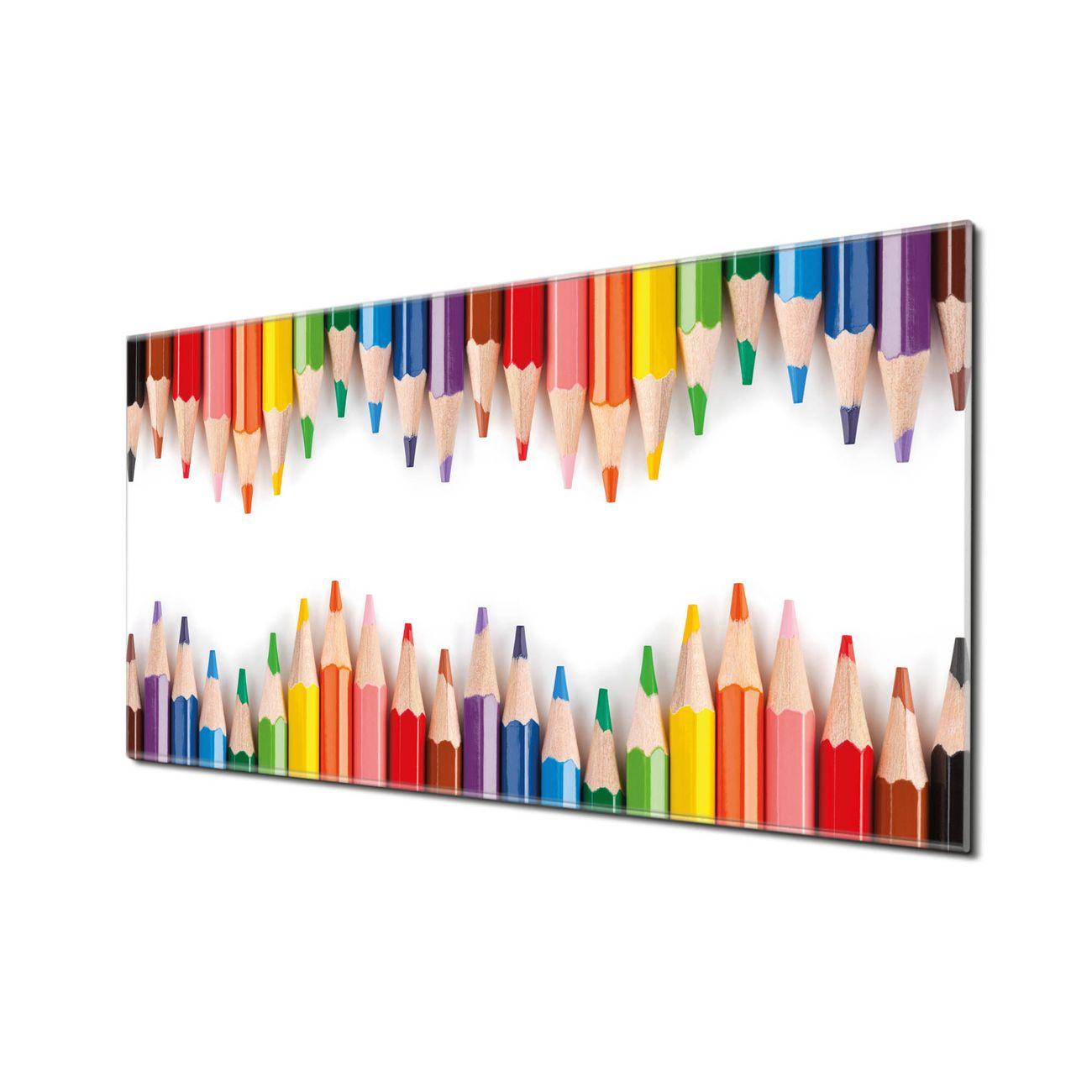 Küchenrückwand Glas Motiv Buntstifte