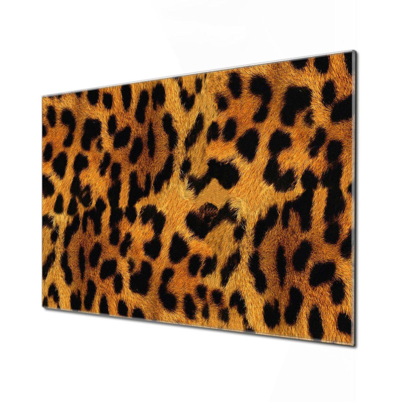 Küchenrückwand Glas Motiv Leopard