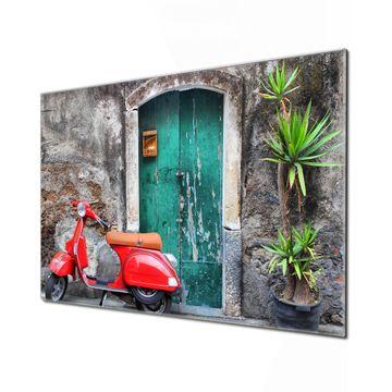 Küchenrückwand Glas Motiv Italienischer Roller