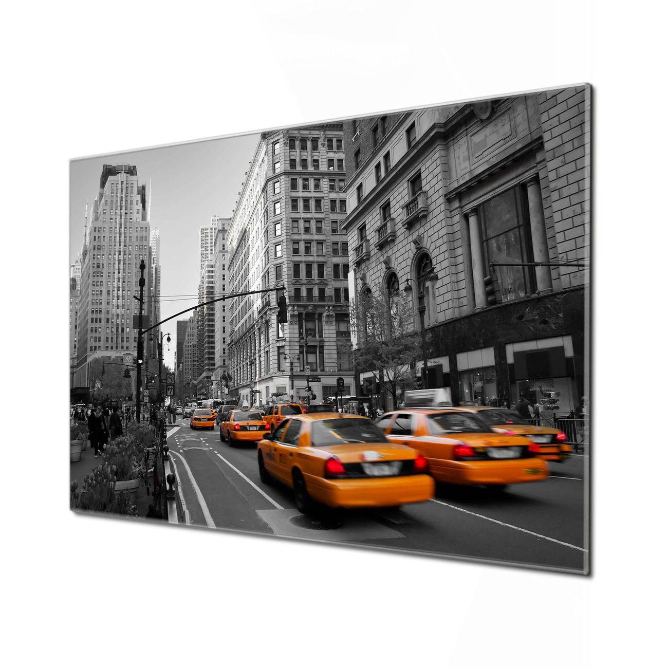 Küchenrückwand Glas Motiv New York Taxi