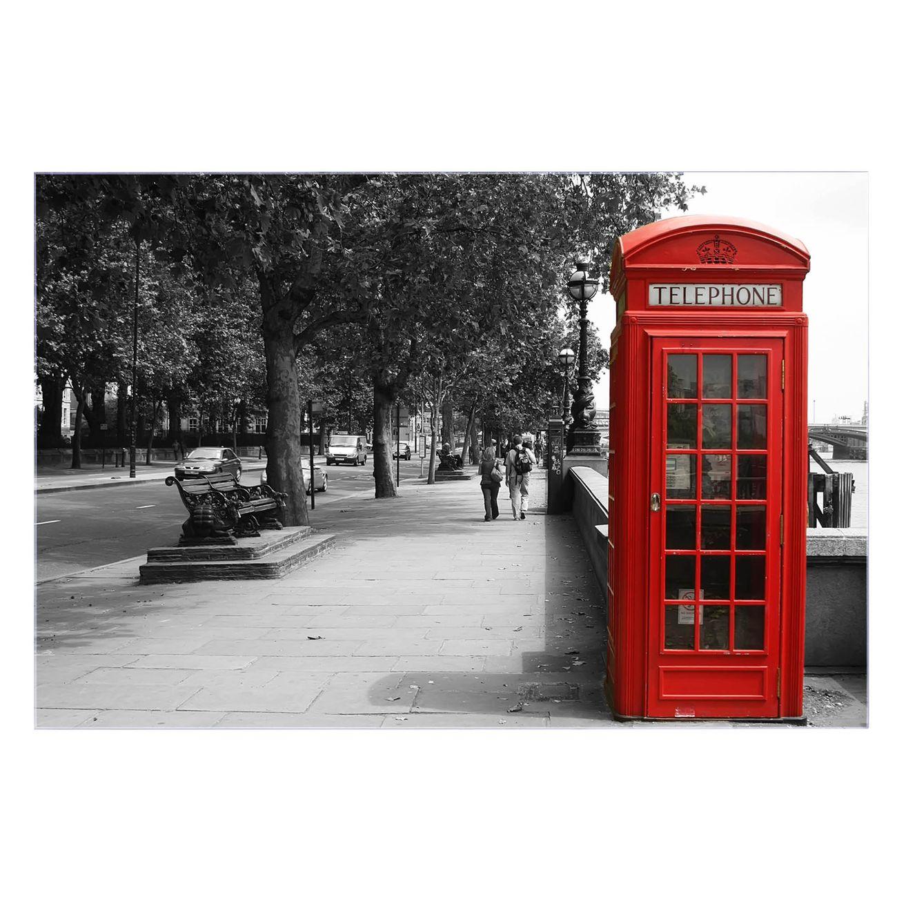 Küchenrückwand Glas Motiv London Red Telephone