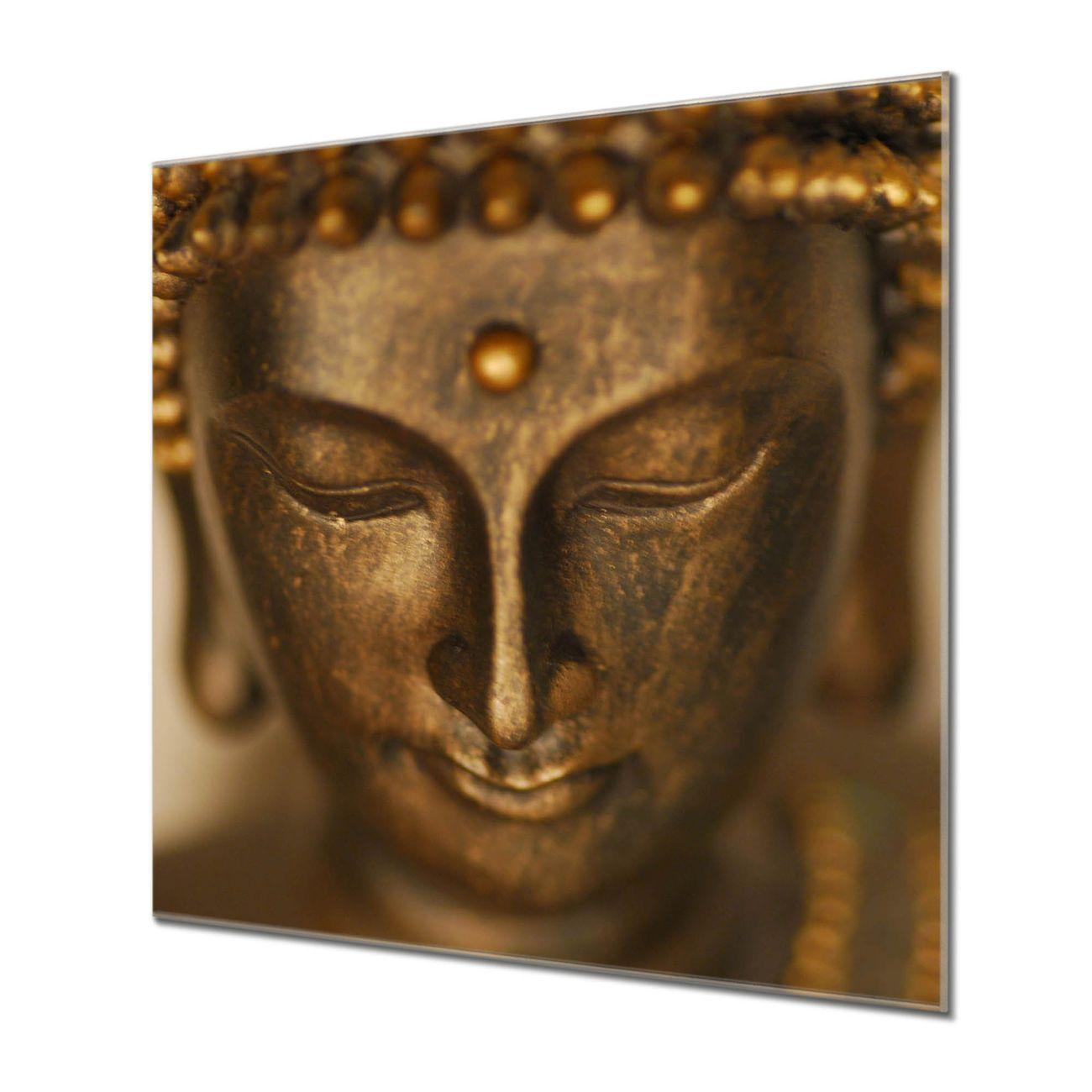 Küchenrückwand Glas Motiv Buddha Gold