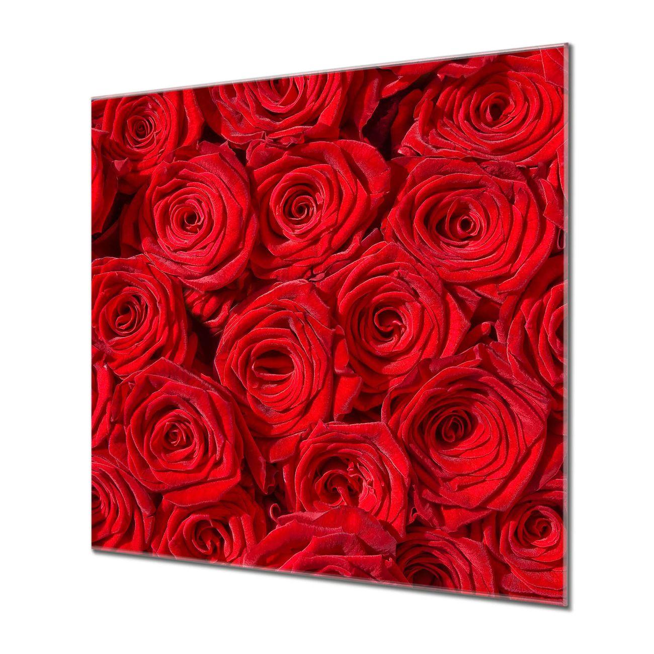Küchenrückwand Glas Motiv Rosenbett