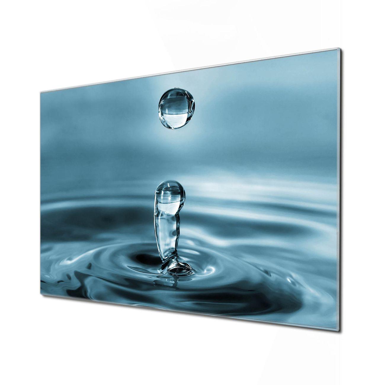 Küchenrückwand Glas Motiv Wassertropfen