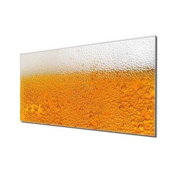 Küchenrückwand Glas Motiv Bier