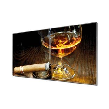 Küchenrückwand Glas Motiv Whiskey & Cigar