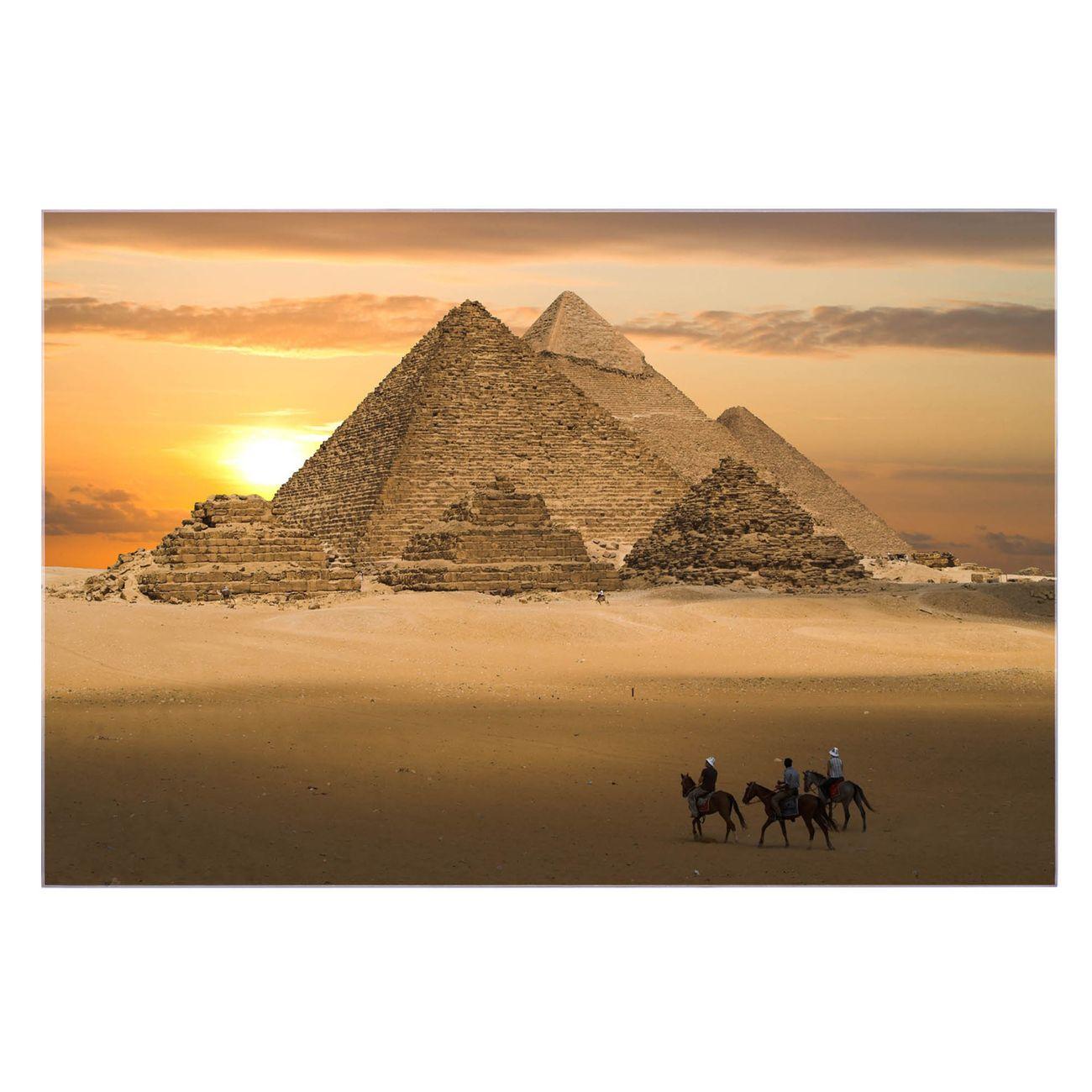 Küchenrückwand Glas Motiv Pyramiden
