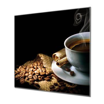 Küchenrückwand Glas Motiv Hot Coffee