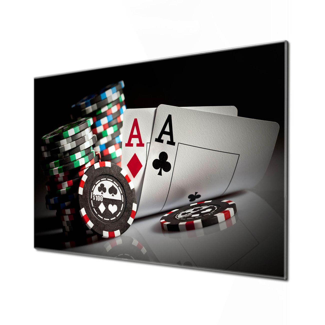 Küchenrückwand Glas Motiv Poker