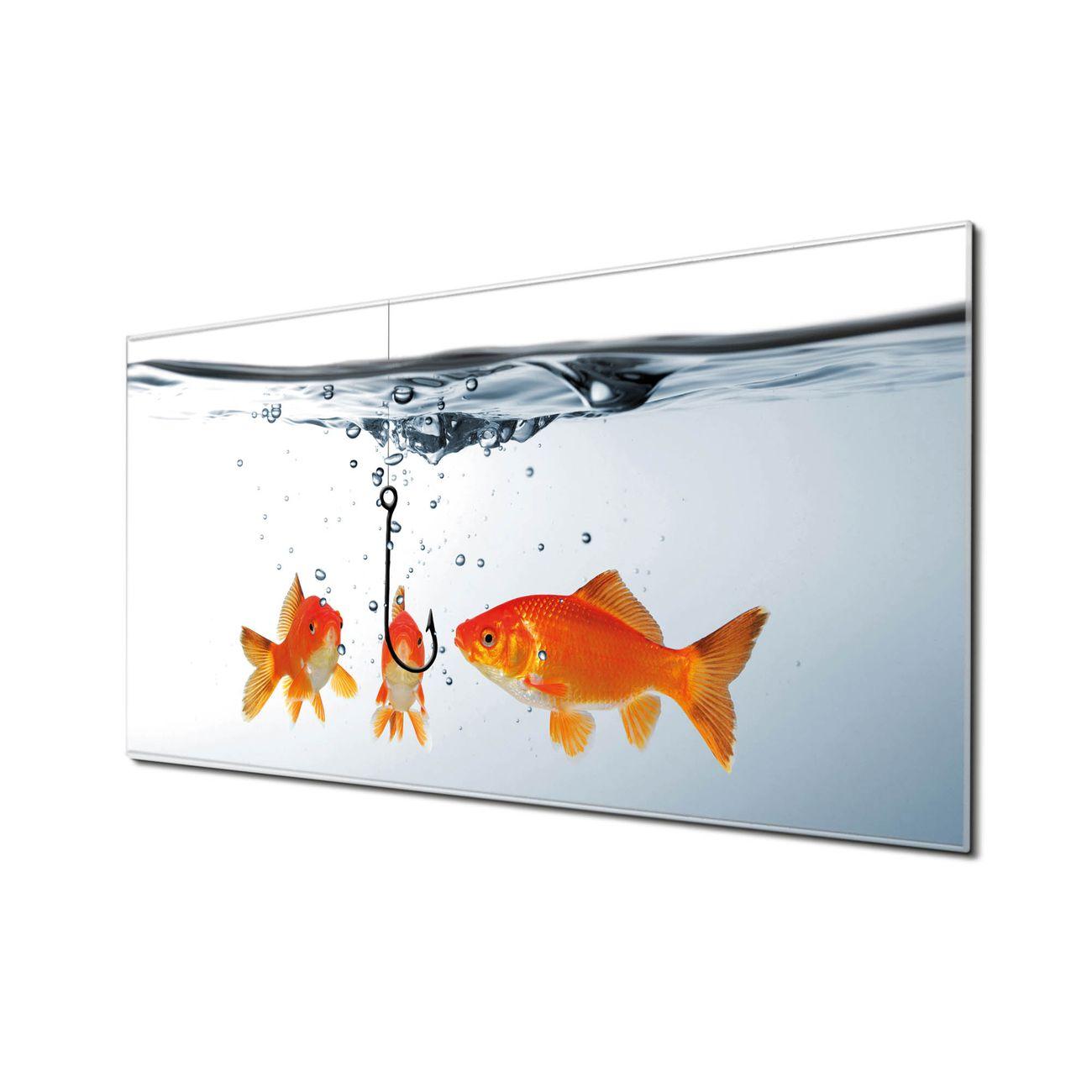 Küchenrückwand Glas Motiv Fische