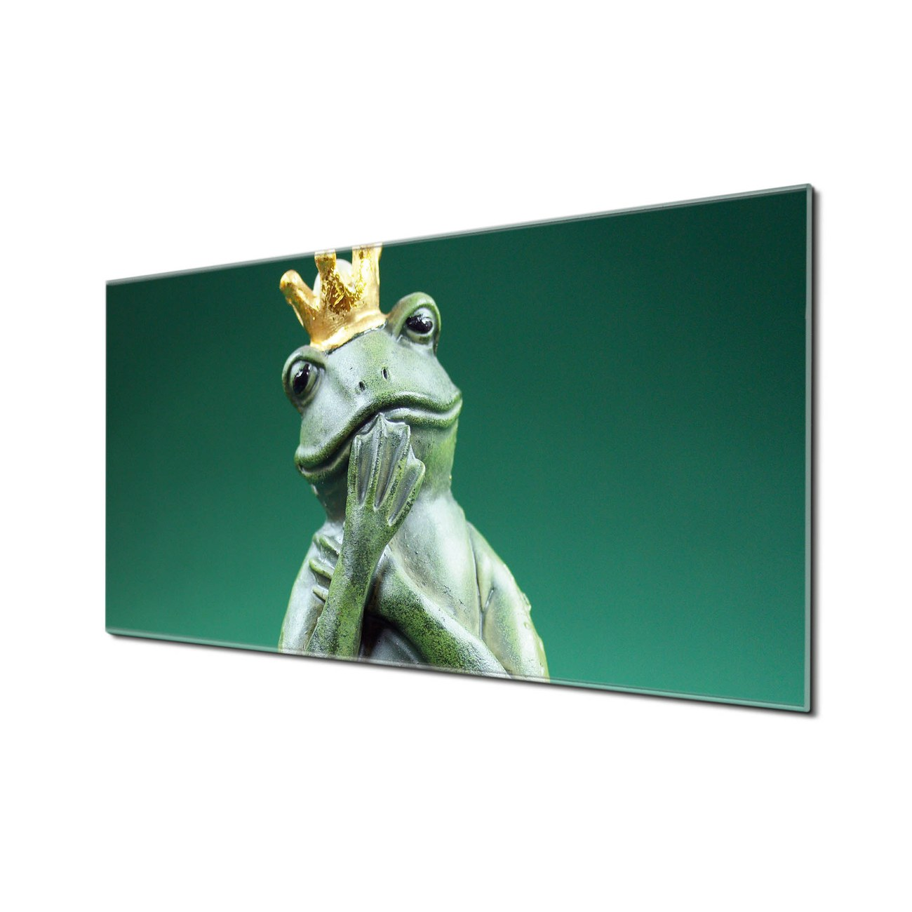 Küchenrückwand Glas Motiv Froschkönig